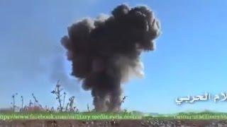 Сирия,уничтожение танком грузовика забитого взрывчаткой