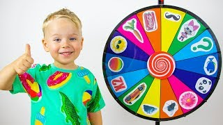 Gaby and Alex Playing with Magic Wheel