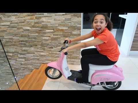 Surprise Toy Unboxing & Assembling Power Wheels Ride On Bike   Toys AndMe