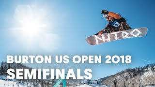 LIVE - Snowboarding Halfpipe Semifinals at Burton US Open 2018 - Men