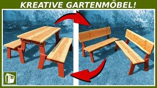KREATIVE Gartenmöbel selber bauen | 2in1 Sitzbank aus Holz | Franks Shed