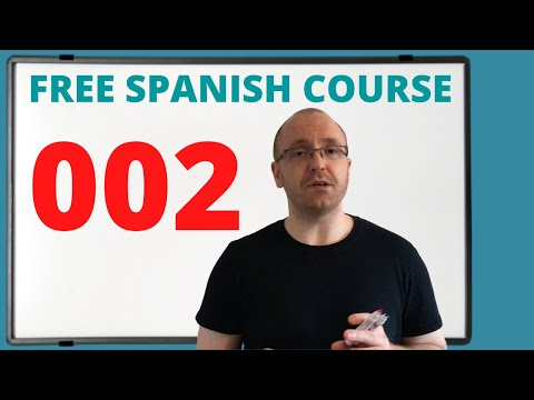 Spanish Lessons for Beginners (Free Online Course) 002