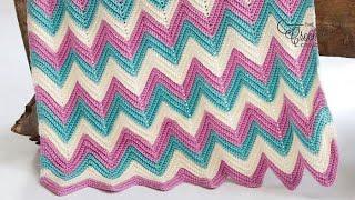Crochet Baby Zig Zag Blanket Pattern