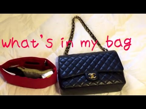 What's in my Chanel Maxi Flap Bag? shown with Purse To Go Organizer