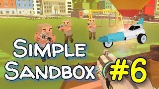 "Simple Sandbox. #6. Обзор "" РАКЕТЫ"". БАГАНУТАЯ ТАЧКА!!!! ( УГАР 16+)"