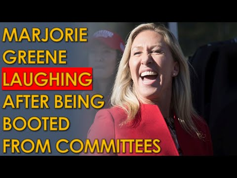 Marjorie Taylor Greene LAUGHING After being Expelled From House Committees
