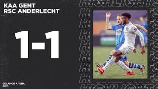 Highlights: KAA Gent - RSC Anderlecht