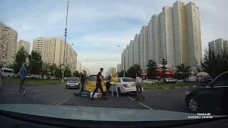 Братиславская, драка на дороге
