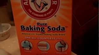 Cleaning a sink trap with Baking Soda and Vinegar