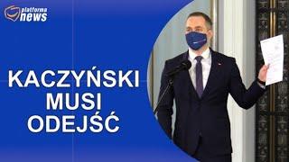 PN Wniosek Koalicji Obywatelskiej z poparciem Lewicy o wotum nieufności wobec Jarosława Kaczyńskiego