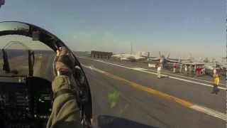 カタパルト射出・発艦。F/A-18コクピット映像