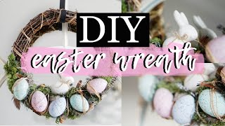 DIY EASTER WREATH With Speckeled Eggs & A Ceramic Bunny From Hobbycraft