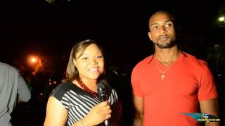 Ronald Forbes speaks with Bahamas Athletics at the Chris Brown Invitational Reception 1