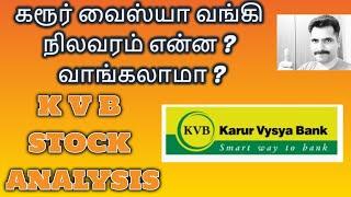 கரூர் வைஸ்யா வங்கி நிலவரம் என்ன ? Karur Vysya Bank  | K V B STOCK ANALYSIS | TamilShare | Intraday