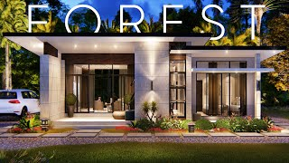 SMALL HOUSE DESIGN   COMING HOME - MODERN FOREST HOUSE