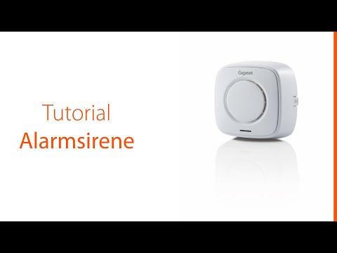 Dieses Tutorial zeigt, wie man die Alarmsirene des Gigaset Alarmsystems in Betrieb nimmt und verwendet.
