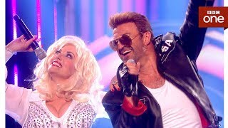 George Michael tribute act Rob Lamberti ft 'Dolly Parton' - Even Better Than the Real Thing