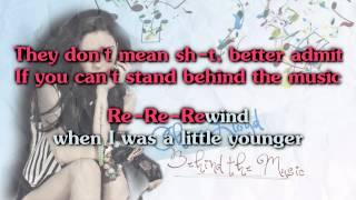 Cher Lloyd - Behind The Music [Karaoke/ Instrumental]