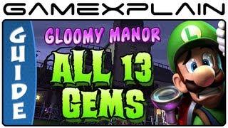Luigi S Mansion 2 Dark Moon All 13 Gems In Gloomy Manor