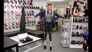Review Trying To Walk In Pleaser Beyond 10 Inch High Heel Shoes