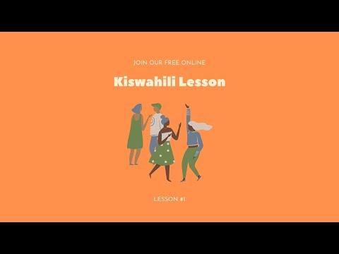 1st Online Kiswahili Lesson