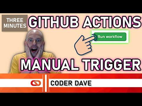 FINALLY! Start your GitHub Actions manually!