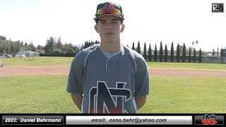 2023 Daniel Behrmann 3.9 GPA - Athletic Shortstop & Outfield Baseball Skills Video - Norcal Baseball