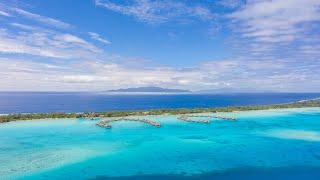 Drone on the Bora Bora Island (French Polynesia)