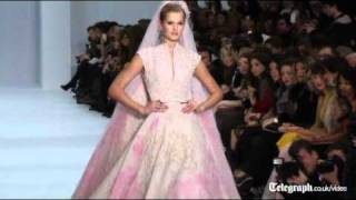 Paris Haute Couture: Elie Saab Goes Light And Pastel For A Fairytale Inspired Show