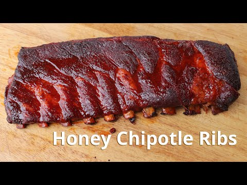 Honey Chipotle Ribs on a Weber Grill