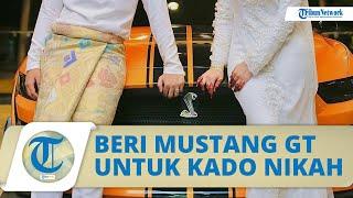 Viral Video Mempelai Pria Hadiahi sang Istri Mustang GT, Ternyata Sempat 8 Kali Gagal Menikah