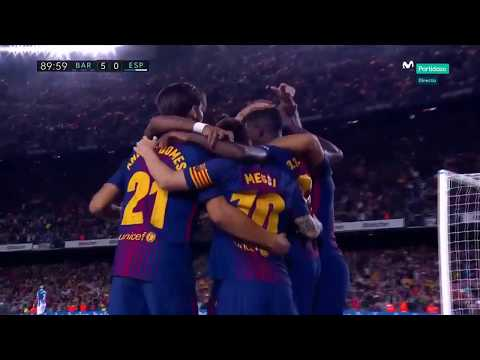Download Barcelona Vs Espanyol 5 0   All Goals & Extended Highlights   La Liga 09 09 2017 HD HD Mp4 3GP Video and MP3
