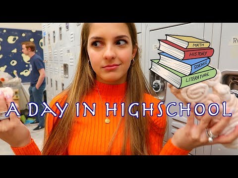 A DAY IN MY LIFE AT HIGH SCHOOL!