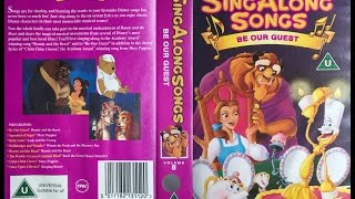 Sing Along Songs   Be Our Guest [UK VHS] (1993)