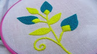 Hand Embroidery; Leaf Embroidery; Chain Stitch