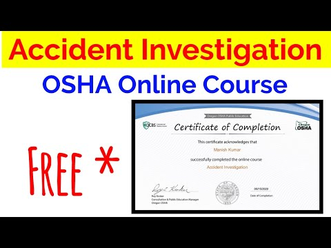 Online Free Accident Investigation course by OSHA - YouTube
