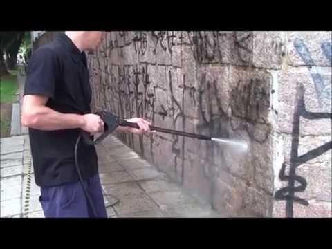 DELETA - Limpando pichação do muro e fachada