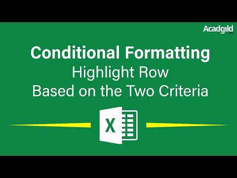 How to Highlight Rows in Excel Based on Two Criteria Using Conditional Formatting | Excel Tutorials
