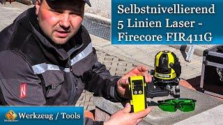 Selbstnivellierender 5 Linien Laser - Firecore FIR411G
