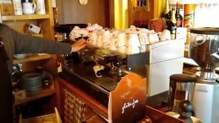 Italian Barista Making Cappuccino Italy