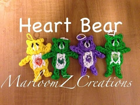 Rainbow Loom Heart Bear: