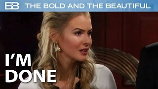 The Bold And The Beautiful / Caroline's Had Enough