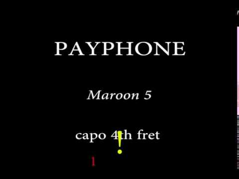 Payphone -Maroon 5 (Easy Chords And Lyrics) 4th Fret Mp3