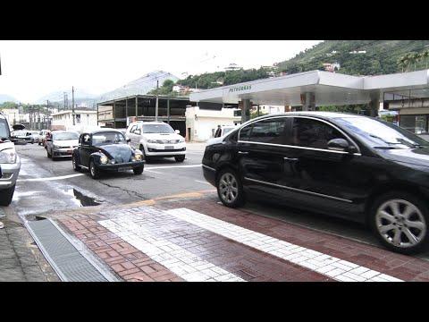 Traffic calming na avenida Euterpe Friburguense foi bancado pela iniciativa privada