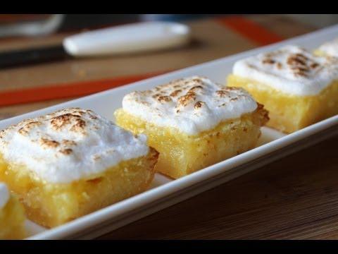 Lemon Bars - Easy Lemon Meringue Bars Recipe