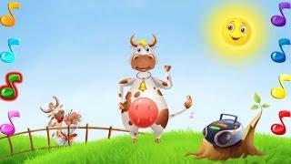 Танцы с животными - Смешная Танцующая корова МУЛЬТИК игра для ДЕТЕЙ от 2 лет