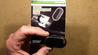 """Solar """"burglar proof"""" light."""