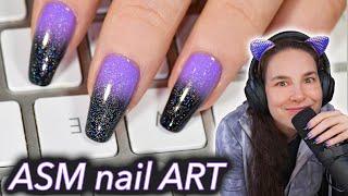 ASMR Nail Art (holo tingles) thumbnail