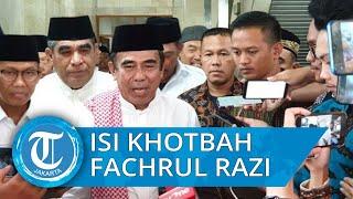 Isi Khotbah Menag Fachrul Razi di Masjid Istiqlal, Ajak Seluruh Umat Beragama Bertoleransi
