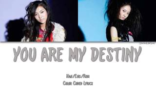 F(X) (에프엑스) - YOU ARE MY DESTINY (LUNA+KRYSTAL) [Color Coded Han|Rom|Eng]
